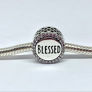 Pandora Charm Blessed Sterling Silver